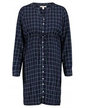 Esprit Kleid Umstandsmode V-Ausschnitt Karo Muster Umstandskleid Tunika V1984261
