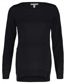 Esprit Umstands-Pullover schwarz mit zwei Reissverschlüssen V1984503