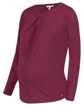 Esprit Umstands-Shirt pflaume aus Leinengemisch V1984701
