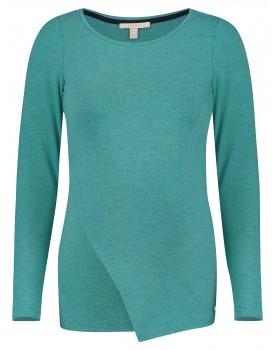 Esprti Still-Shirt Still-Top mit asymmetrischem Ausschnitt in trendigem grün und langen Ärmeln V1984709