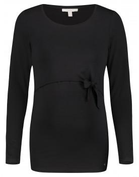 Esprit Still-Shirt schwarz aus superweichem Materialmix langarm Umstands-Shirt V1984710