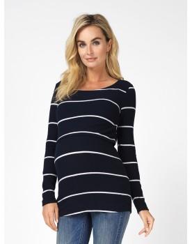 Langarmshirt Still-Shirt Rhona Wickelausschnitt ultimative Weichheit 90512