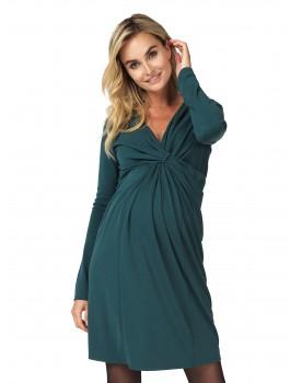 Noppies Drapierung V-Ausschnitt Still-Kleid Renate Midikleid 90528