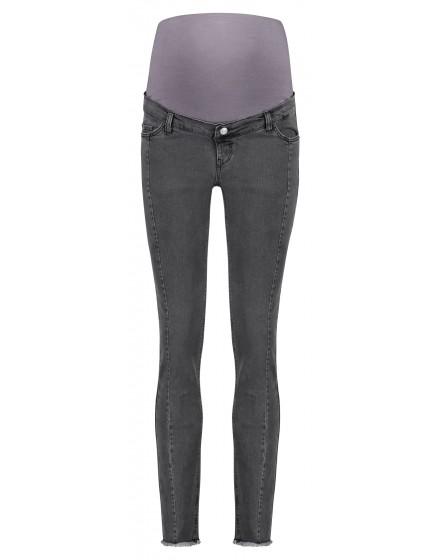 Esprit Slim Umstands-Jeans mit verstellbarem Bund in dunkelgrauer Waschung V198X003
