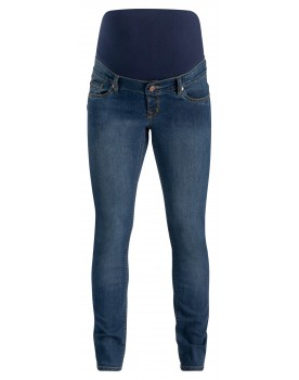 Noppies Slim Umstandsjeans Mila 5-Pocket-Jeans mit Kontras-Nähten Stretch blue 906033X