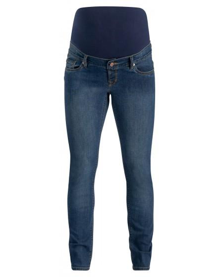 Noppies Slim Umstandsjeans Mila 5-Pocket-Jeans mit Kontras-Nähten Stretch blue 906033X