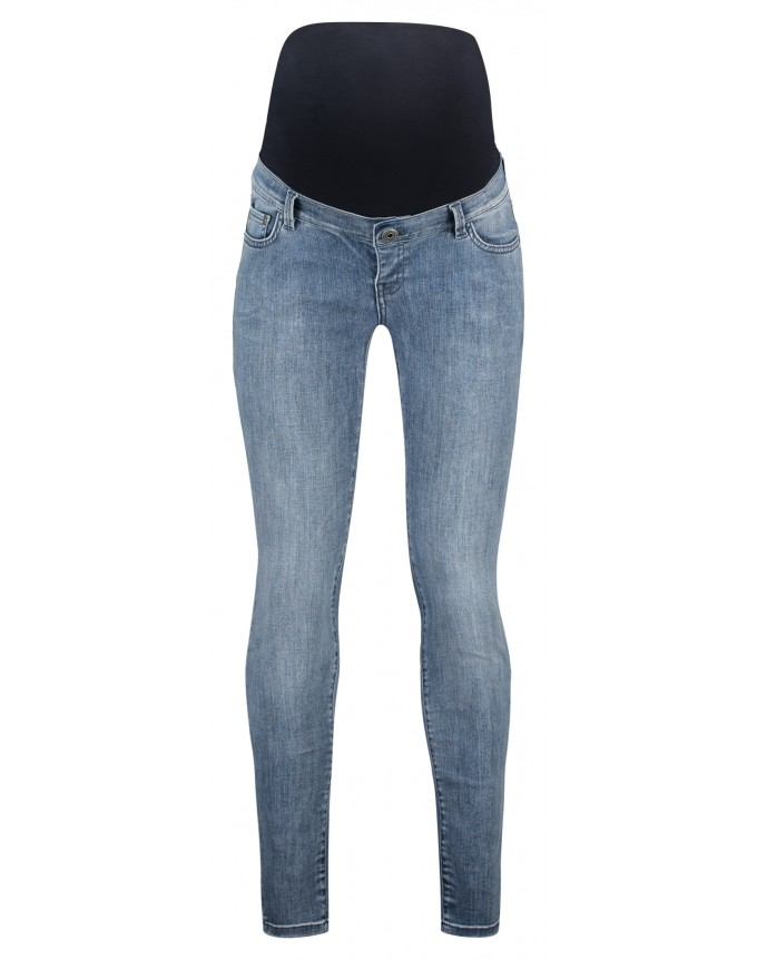 Skinny Umstandsjeans Damaged Blue
