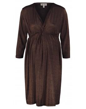 Queen Mum Still-Kleid stylish und festlich mit V-Ausschnitt und 3/4-Ärmel 91745