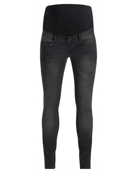 Supermom Skinny Umstandsjeans Studs S1069 in washed black