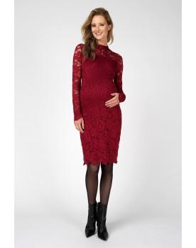 Supermom Umstands-Kleid Lace mit suptilem Kragen und aus super dehnbarem Stoff S1089
