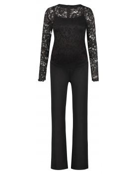 Supermom Jumpsuit Black aus edler Spitze S1095