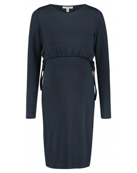 Esprit Still-Kleid in Midi aus weichem Materialmix W1984260