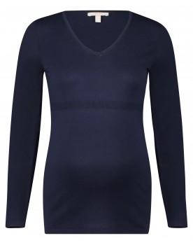 Esprit Pullover mit femininem V-Ausschnitt und Rippstrick W1984504