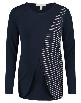 Esprit Still-Shirt mit Wickelung und klassischem Streifenmuster W1984706