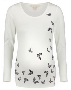 Esprit Langarmshirt mit Schmetterling-Print