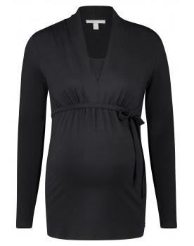 Esprit Still-Shirt Stillshirt aus weichem Materialmix in schwarz W1984714