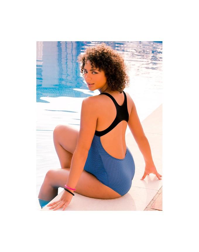 Badeanzug mit Sun Protection, sportlicher Einteiler Yana