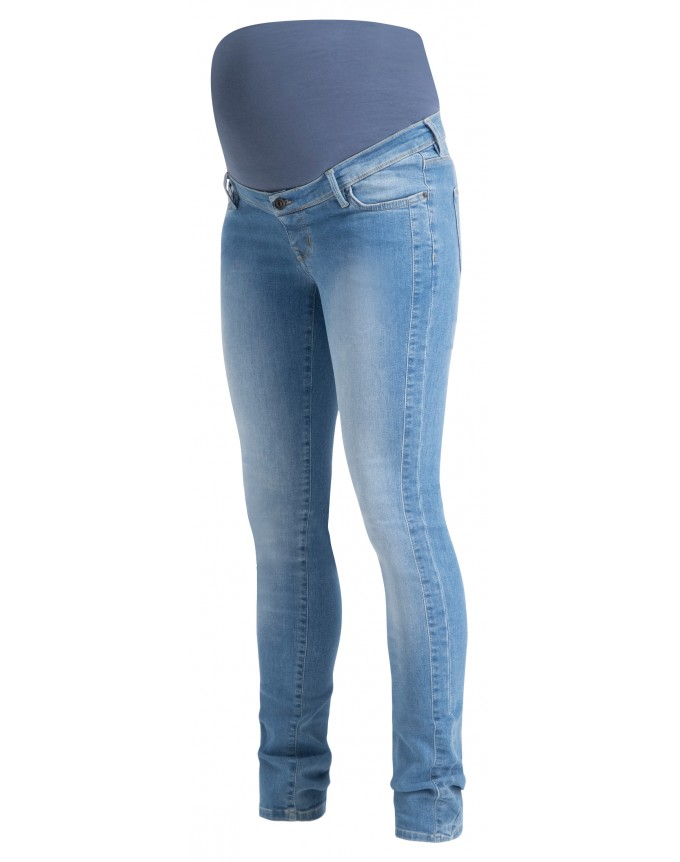 Skinny Umstandsjeans Avi Aged Blue