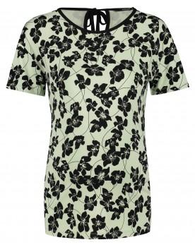 Supermom Umstandsshirt T-shirt Green Flower mit Schleifendetail 20220013