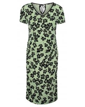Supermom Kleid Green Flower mit V-Ausschnitt 20220412