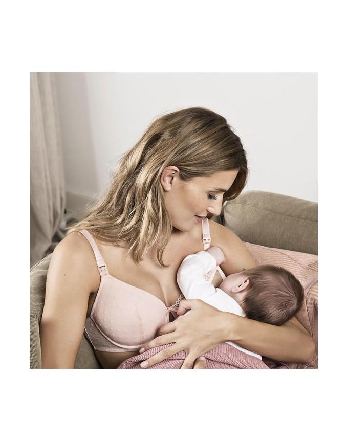 Noppies Gepolsterter Still-BH Mesh Schwangerschafts-BH femininen Touch