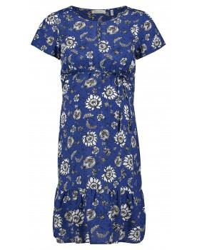 Queen Mum Still-Kleid Umstandskleid Beiging mit Blumen-Print 20130418