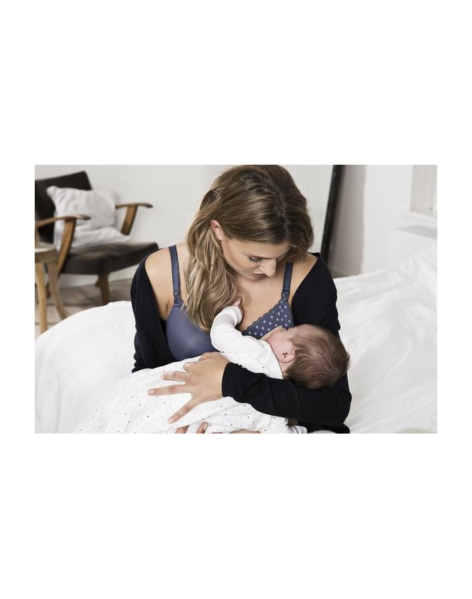 de Luxe Gepolsterter Still-BH Geo Lace Schwangerschafts-BH femininen Touch