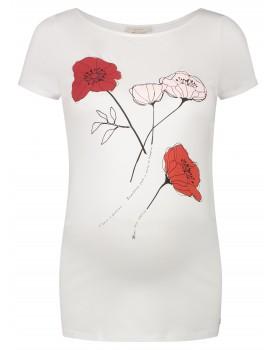 Esprit Umstandsshirt T-Shirt mit Blumen-Print 20830015