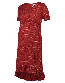 Esprit Still-Kleid Umstandskleid mit Print und Rüschen 20830416