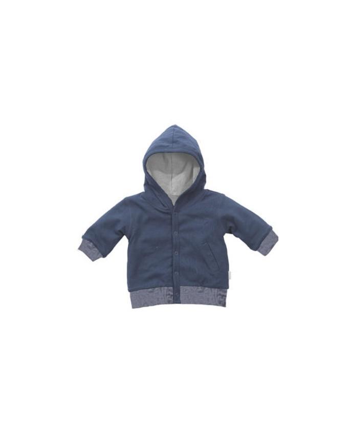 BEES Cardigan Reversible-Blue Jacke mit Kapuze