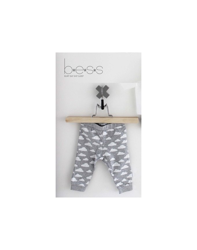 BEES Boy or Girl Hose, Pants Unisex Cloud-Grey BS1013