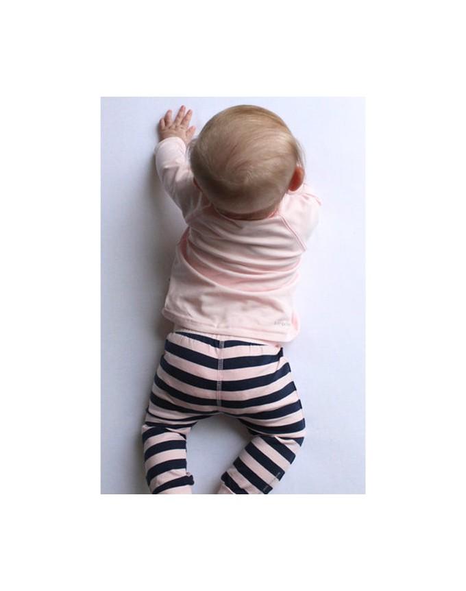 BEES Pants Unisex Striped-Blue Jungen / Mädchen Hose BS1014